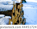 Snow covered mountain range (close up) 44451724