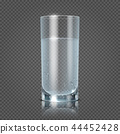 Glass of water isolated on transparent checkered background vector illustration 44452428