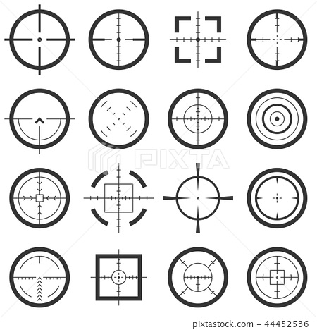 Crosshairs vector icons 44452536