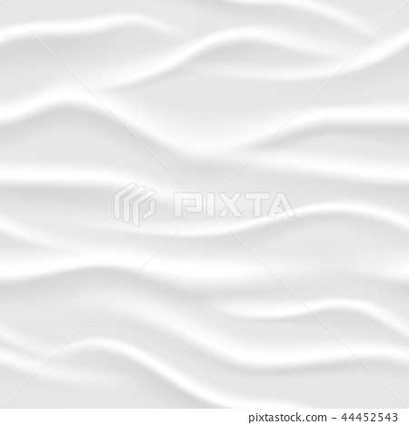 White wavy seamless vector texture 44452543