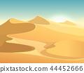 Desert dunes vector egyptian landscape background 44452666