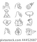 Natural disaster vector icons 44452687