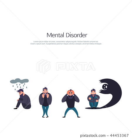 Group of people with psychology problem 44453367