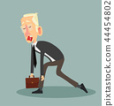 Tired businessman Cartoon Design Vector 44454802