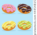 Colorful Donut vector set 44454815