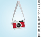 hanging red vintage camera with Screw head  44455236