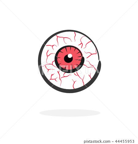 red blood eye vector 44455953