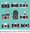 Set of camera vintage Flat design 44456709