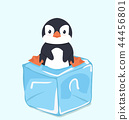 Cute Penguin on  ice cube 44456801