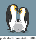Cartoon happy Penguins family 44456806