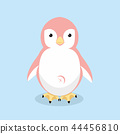 Vector illustration of Cute Penguin pink 44456810