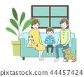 沙发坐在家庭 44457424
