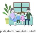 沙发坐在家庭 44457449