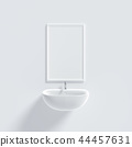 basin and mirror mock-up minimal concept 44457631