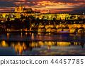 Prague Castle after sunset. Europe, Czech republic. 44457785