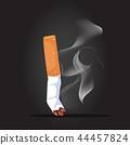 Cigarette with smoke background 44457824