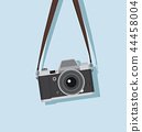 hanging vintage camera  in a flat style 44458004