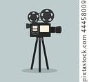 retro cinema film camera  vector 44458009