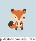 cute mini fox vector 44458032