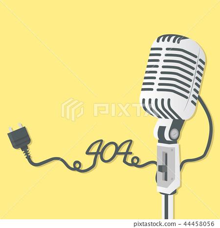 Retro microphone with 404  Error 44458056