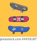 set of vector skateboards 44458187
