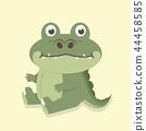 Nice crocodile cartoon vector 44458585