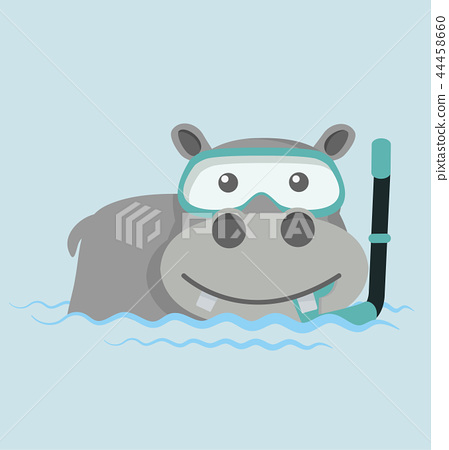 Hippo Snorkeling in water 44458660