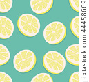 Summer slice of a lemon pattern 44458669