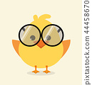 Cute baby chick with a glasses 44458670