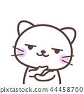 有意識的白色貓 44458760