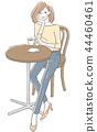 咖啡馆女性 44460461