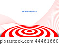 Red target board on white background. 44461660