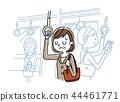 乘火車上下班:一個沮喪的中年婦女 44461771