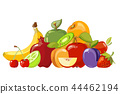 Heap of fruits isolated over white 44462194