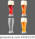 Beer glasses with light lager and dark 44462240