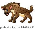 Vector illustration of Funny hyena cartoon 44462531