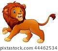 Vector illustration of Cute lion cartoon 44462534