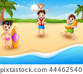 Children vacation at the beach  44462540