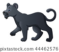 Cute black panther cartoon 44462576