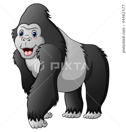 Cartoon funny gorilla 44462577