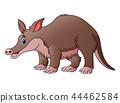 Vector illustration of Cute tapir cartoon 44462584