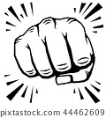 Punching fist hand vector illustration 44462609