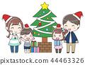 家庭享受聖誕節 44463326