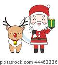 聖誕老人和馴鹿 44463336