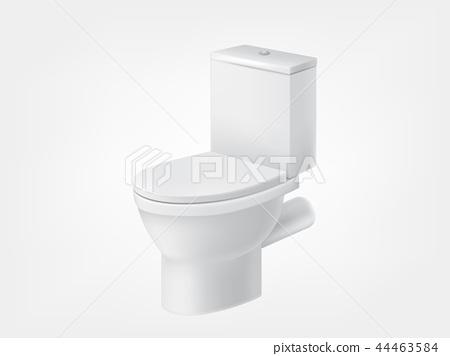 3d realistic toilet bowl lid white mockup 44463584