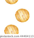 Cracker biscuit seamless background. Watercolor 44464113