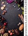 Assortment raw organic of purple ingredients 44464280