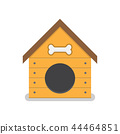 Dog house isolated on white background 44464851