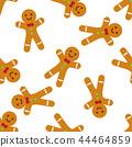 Gingerbread man seamless pattern. 44464859