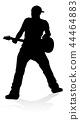 Musician Guitarist Silhouette 44464883